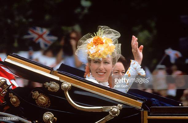 Princess Ann and Princess Margaret on their way to the wedding of Prince Charles and Lady Diana