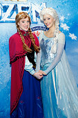 Princess Anna and Queen Elsa attend Disney On Ice presents Frozen at Barclays Center on November 11 2014 in New York City