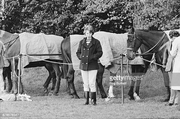 Princess Anne attends a polo match in Windsor Great Park UK 8th May 1966