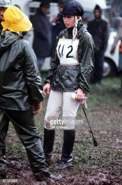 Princess Anne In Crosscountry Riding Gear At The Badminton Horse Trials Threeday Event 1518 April 1975