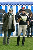 Princess Anne joins daughter Zara Phillips in the collecting ring before her ride on Ardfield Magic Star for the Cross Country phase of Badminton...