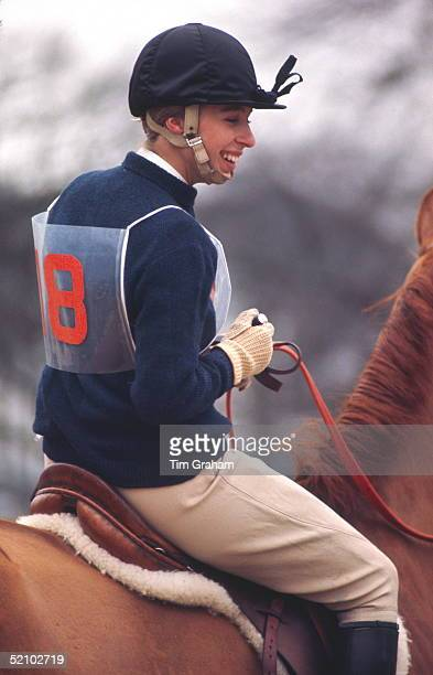 Princess Anne Laughing At Horse Trials