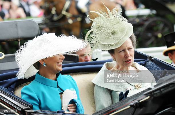 Princess Anne Princess Royal and Princess Haya Bint Al Hussein attend Ladies Day of Royal Ascot at Ascot Racecourse on June 18 2009 in Ascot England