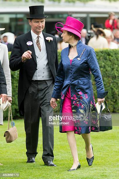 Princess Anne Princess Royal and Timothy Laurence attend Day 3 of Royal Ascot at Ascot Racecourse on June 19 2014 in Ascot England