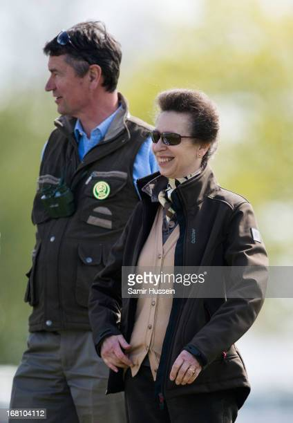 Princess Anne Princess Royal and Timothy Laurence attend Day 4 of the Badminton Horse Trials on May 5 2013 in Badminton England