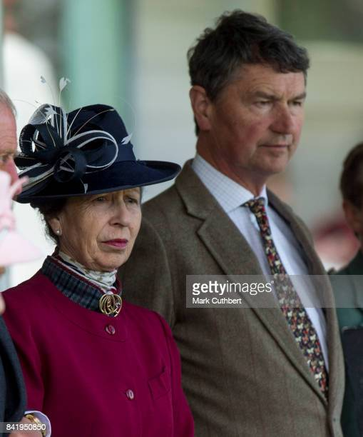Princess Anne Princess Royal and Timothy Laurence attend the 2017 Braemar Highland Gathering at The Princess Royal and Duke of Fife Memorial Park on...