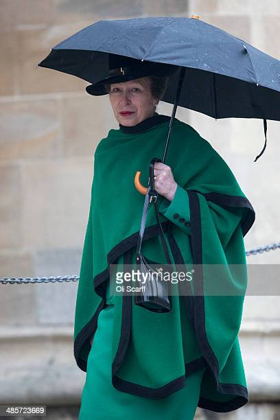 Princess Anne Princess Royal arrives to attend the Easter Matins at St George's Chapel in Windsor Castle on April 20 2014 in Windsor England Her...