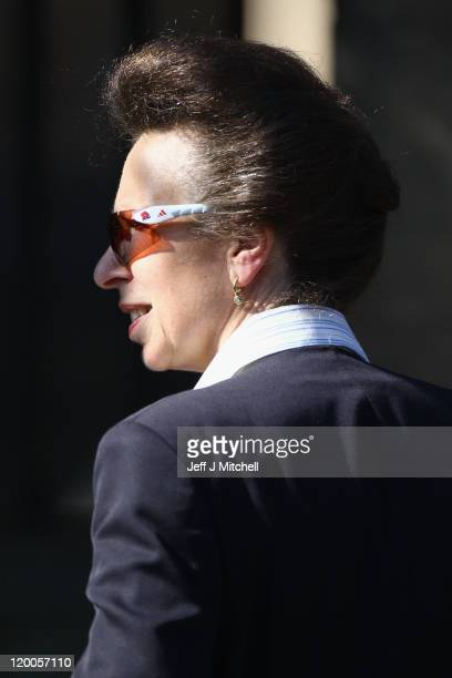 Princess Anne Princess Royal arrives to royal wedding rehearsal for Zara Phillips And Mike Tindall at Canongate Kirk on July 29 2011 in Edinburgh...