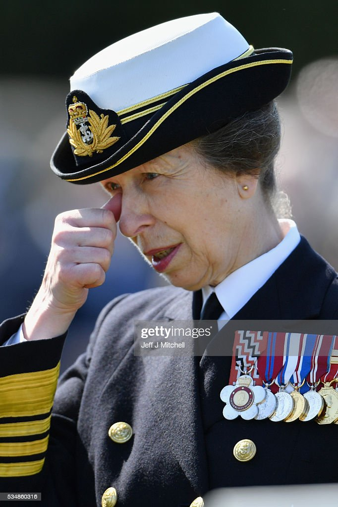 Princess Anne, Princess Royal attends a service at a war graves cemetery to mark the Battle of Jutland on May 28, 2016 in South Queensferry,Scotland. The events begin a weekend of commemoration leading up to the anniversary on 31 May and 1 June to mark the centenary of the largest naval battle of World War One where more than 6,000 Britons and 2,500 Germans died in the Battle of Jutland.