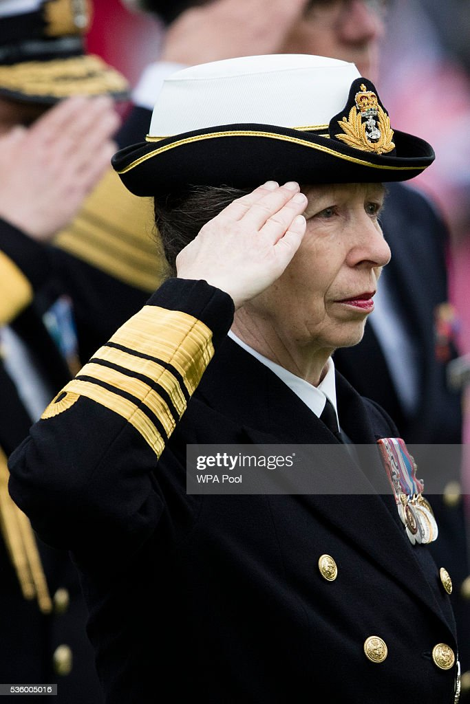 Princess Anne, Princess Royal attends commemorations of the 100th anniversary of the Battle of Jutland at St Magnus Cathedral on May 31, 2016 in Kirkwall, Scotland. The event marks the centenary of the largest naval battle of World War One where more than 6,000 Britons and 2,500 Germans died in the Battle of Jutland fought near the coast of Denmark on 31 May and 1 June 1916.