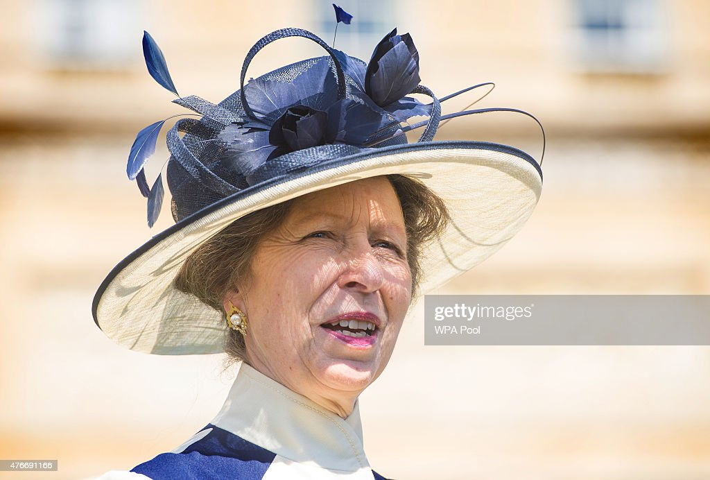 Princess Anne Princess Royal attends the annual Not Forgotten Association Garden Party at Buckingham Palace on June 11 in London United Kingdom