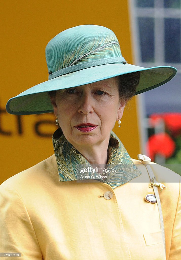 Princess Anne Princess Royal attends the Betfair Weekend King George Day and Summer Garden Party at Ascot Racecourse on July 27, 2013 in Ascot, England.