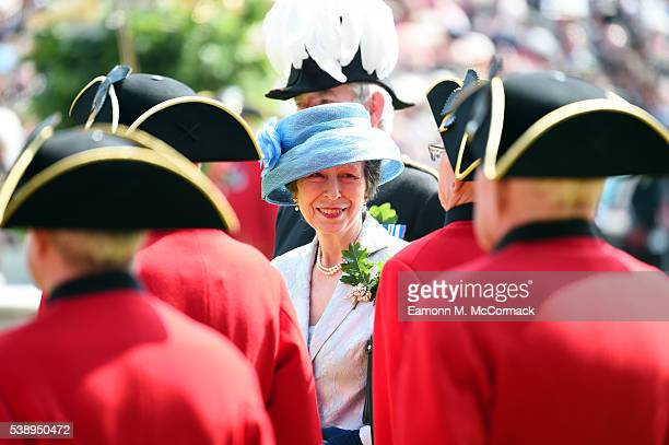 Princess Anne Princess Royal attends the Founders Day Parade at The Royal Hospital Chelsea on June 9 2016 in London England
