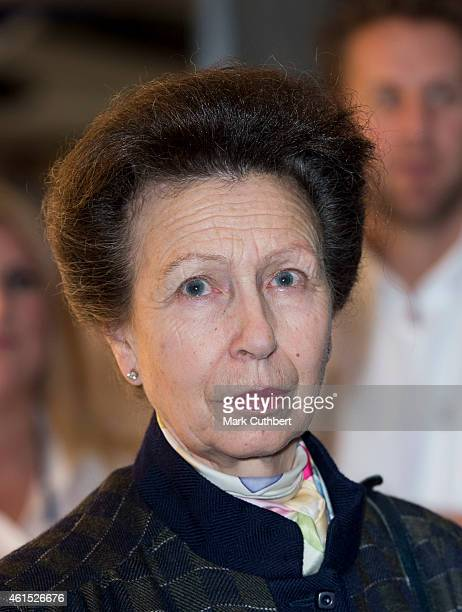 Princess Anne Princess Royal attends the London Boat Show at ExCel on January 14 2015 in London England