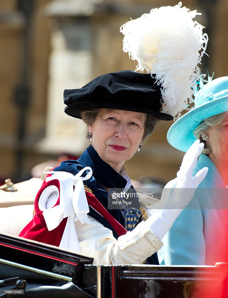 Princess Anne, Princess Royal attends the Order of the Garter procession and service at Windsor Castle on June 18, 2011 in Windsor, England. The Order of the Garter is the senior and oldest British Order of Chivalry, founded by Edward III in 1348. Membership in the order is limited to the sovereign, the Prince of Wales, and no more than twenty-four members.
