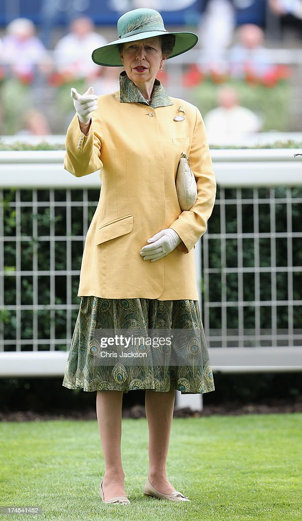 Princess Anne, Princess Royal attends the the Betfair Weekend King George Day and Summer Garden Party at Ascot Racecourse on July 27, 2013 in Ascot, England.