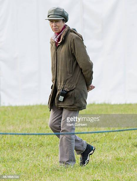 Princess Anne Princess Royal attends the Whatley Manor International Horse Trials at Gatcombe Park on September 12 2015 in Stroud England