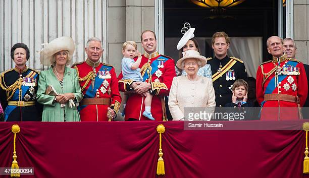 Princess Anne Princess Royal Camilla Duchess of Cornwall Prince Charles Prince of Wales Prince George of Cambridge Prince William Duke of Cambridge...