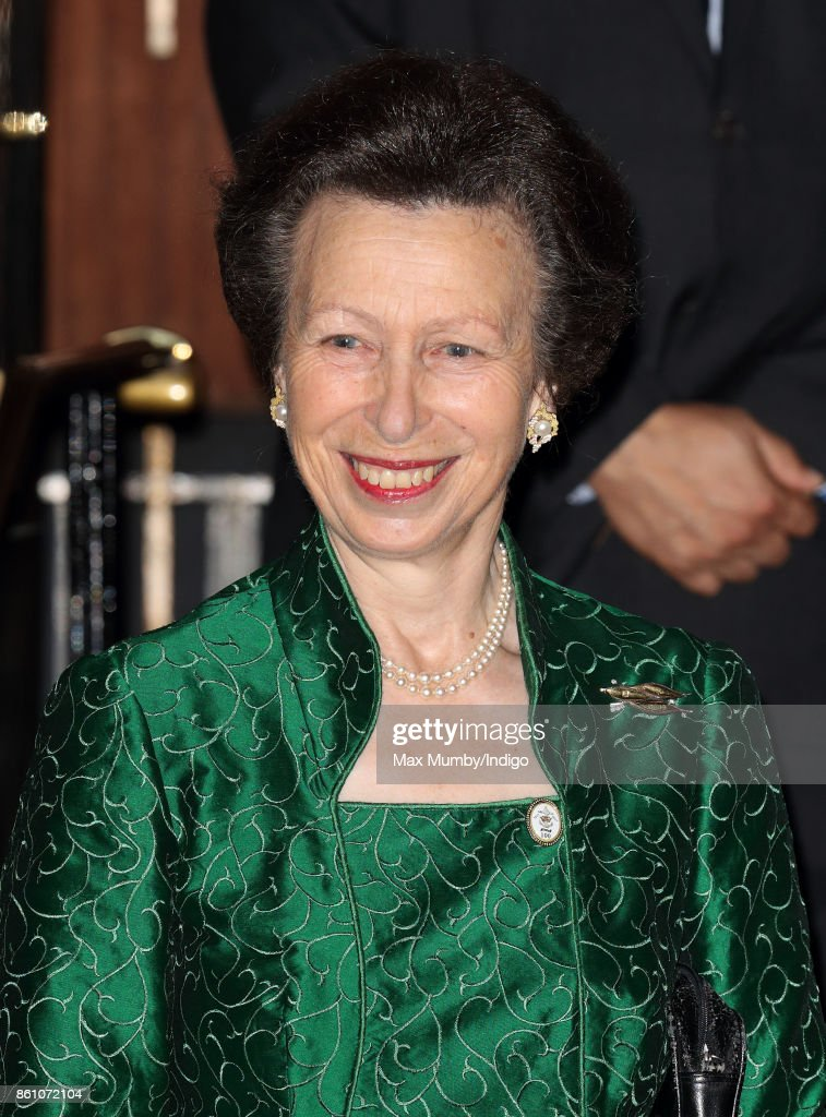 Princess Anne, Princess Royal departs after attending a reception to mark the Centenary of the Women's Royal Navy Service and the Women's Auxiliary Army Corp at The Army & Navy Club on October 12, 2017 in London, England.