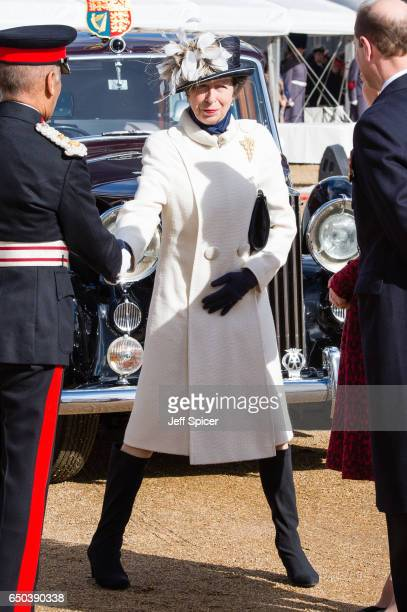 Princess Anne Princess Royal during the dedication and unveiling of The Iraq and Afghanistan memorial on March 9 2017 in London England