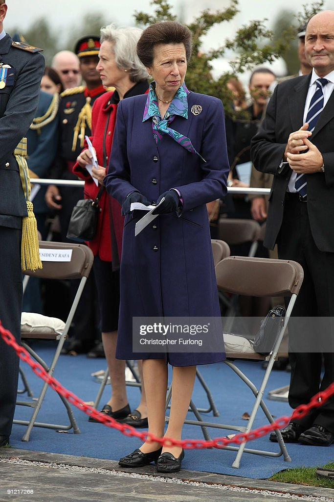 Princess Anne Princess Royal officially opens the new RAF Association Remembrance Garden at The National Memorial Arboretum on September 28 2009 in...