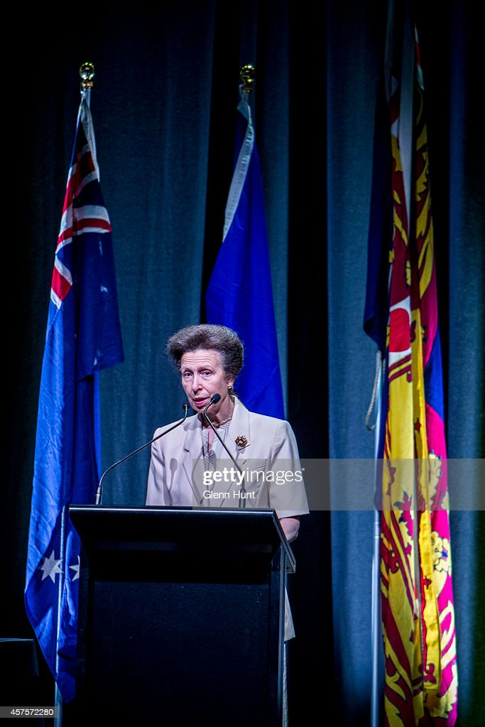 <a gi-track='captionPersonalityLinkClicked' href=/galleries/search?phrase=Princess+Anne+-+Princess+Royal&family=editorial&specificpeople=11706204 ng-click='$event.stopPropagation()'>Princess Anne</a>, Princess Royal speaks to the audience at the 26th Commonwealth Agricultural Conference at the Royal International Convention Centre on October 21, 2014 in Brisbane, Australia.