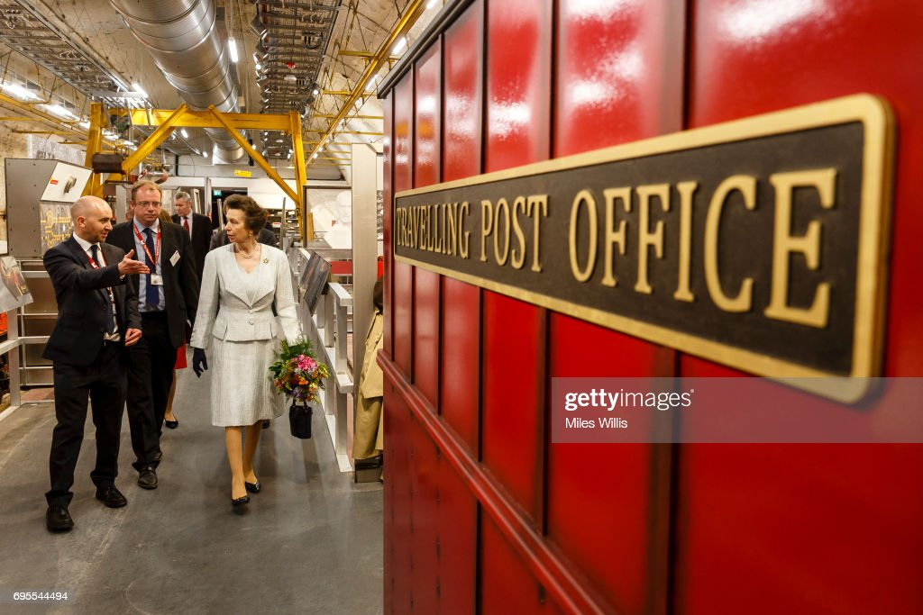Princess Anne, Princess Royal tours the Mail Rail galleries during her visit to The Postal Museum and Mail Rail for its ceremonial opening on June 13 in London, England. The Postal Museum and Mail Rail will open to the public on July 28 2017. The Princess Royal explored the quirky history of the most royal of British institutions, the Royal Mail, and discovered the origins of the world's earliest social network; the post.