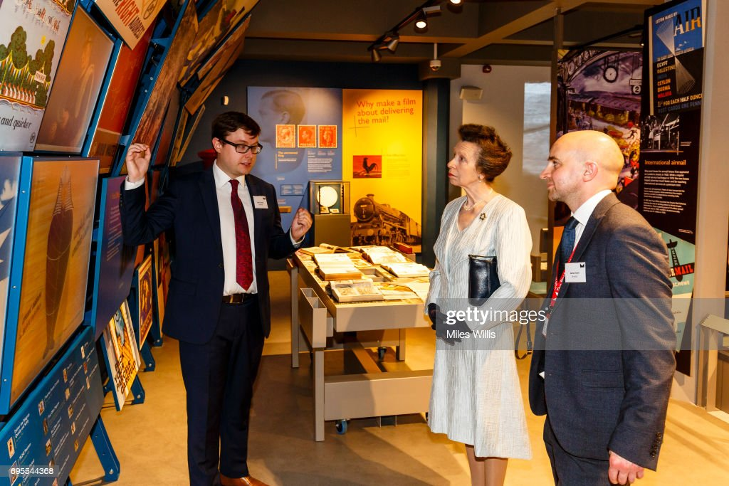 Princess Anne, Princess Royal tours The Postal Museum during her visit for its ceremonial opening on June 13 in London, England. The Postal Museum and Mail Rail will open to the public on July 28, 2017. The Princess Royal explored the quirky history of the most royal of British institutions, the Royal Mail, and discovered the origins of the world's earliest social network; the post.