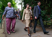 GBR: The Princess Royal Visits Saltburn By The Sea