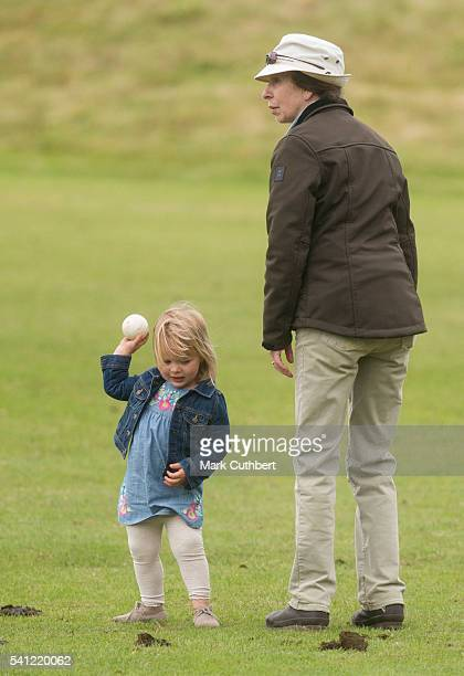 Princess Anne Princess Royal with Mia Tindall during the Gloucestershire Festival of Polo at Beaufort Polo Club on June 19 2016 in Tetbury England