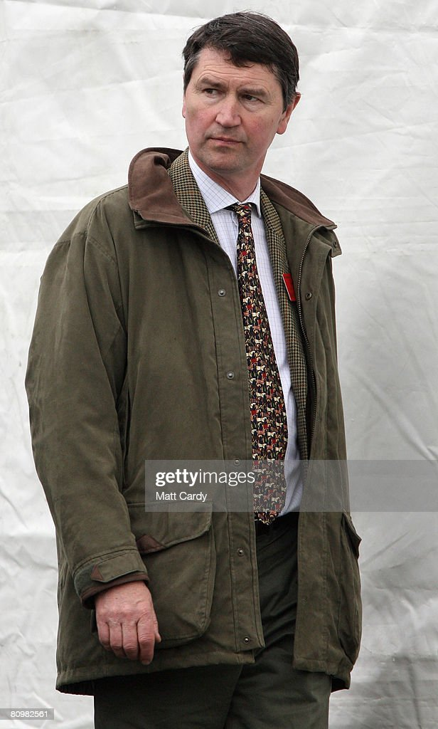 Princess Anne, Princess Royal's husband Tim Laurence leaves following the show jumping during the Badminton Horse Trials on May 4 2008 in Badminton, England. Reigning world champion Zara Phillips rode Glenbuck and Ardfield Magic Star at the event - as the British equestrian team look to finalise their 2008 Olympics squad. The event started with two days of dressage then went into cross country before finishing with the jumping test on today.