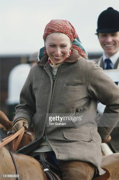 Princess Anne the Princess Royal and her husband Mark Phillips at Crookham Horse Trials circa 1980