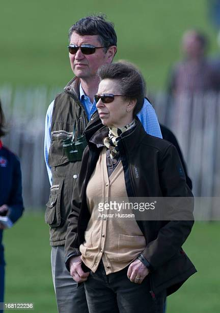 Princess Anne the Princess Royal and her husband Timothy Laurence attend the Mitsubishi Motors Badminton Horse Trials on May 5 2013 in Badminton...