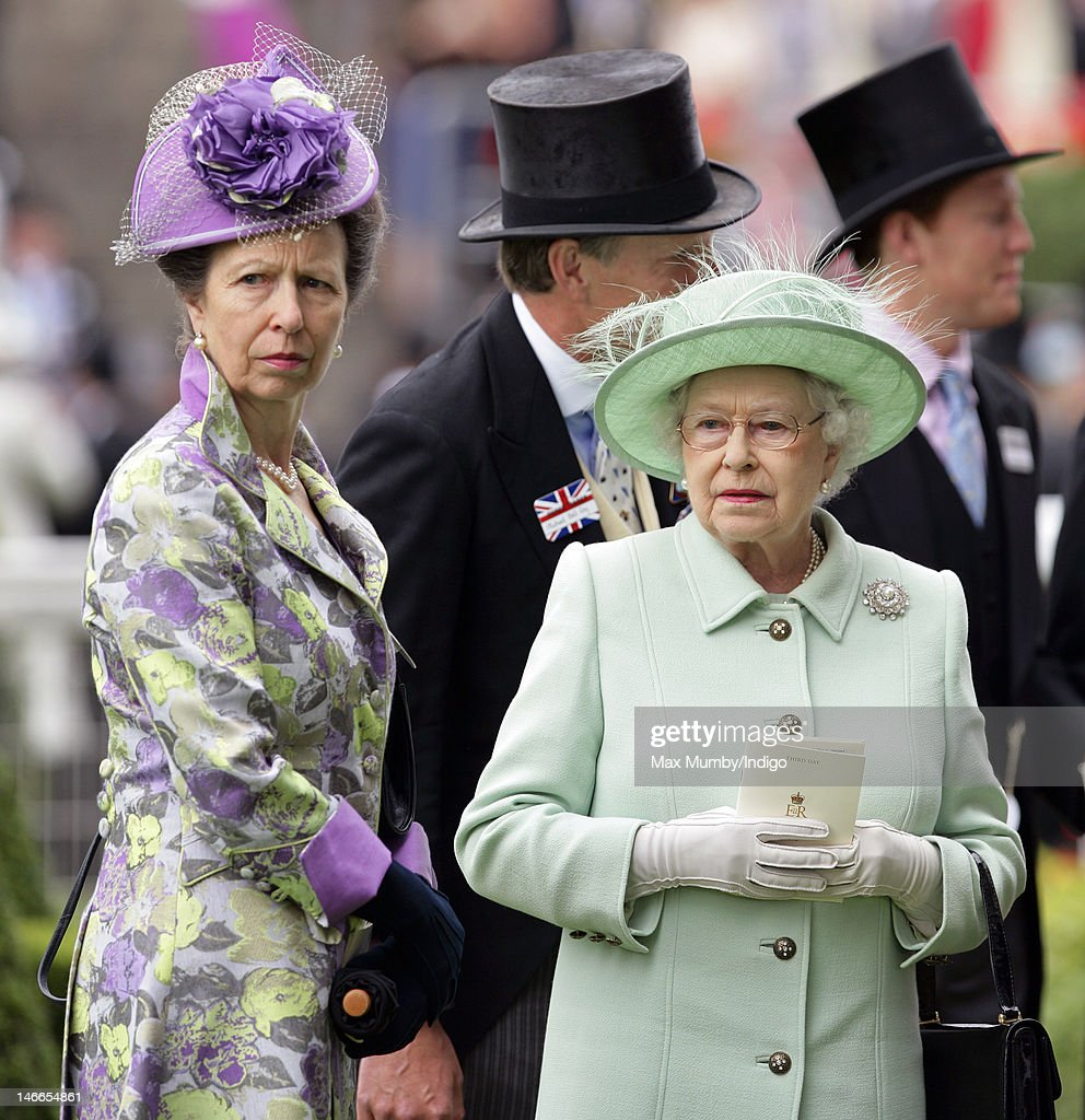 Princess Anne, The Princess Royal and Queen <a gi-track='captionPersonalityLinkClicked' href=/galleries/search?phrase=Elizabeth+II&family=editorial&specificpeople=67226 ng-click='$event.stopPropagation()'>Elizabeth II</a> attend Ladies Day during Royal Ascot at Ascot Racecourse on June 21, 2012 in Ascot, England.