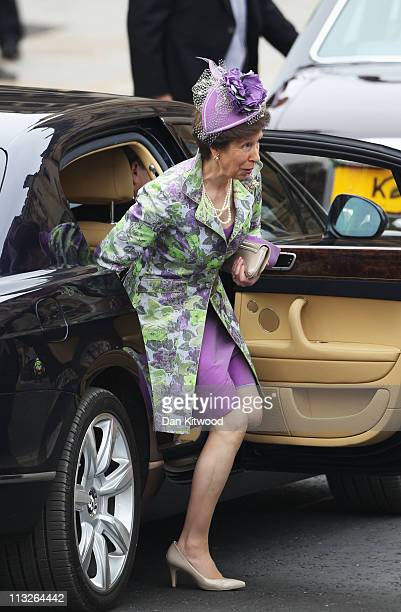 Princess Anne The Princess Royal arrives to attend the Royal Wedding of Prince William to Catherine Middleton at Westminster Abbey on April 29 2011...