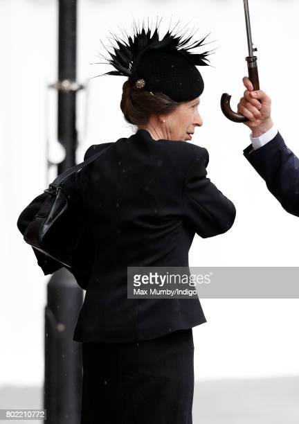 Princess Anne The Princess Royal attends the funeral of Patricia Knatchbull Countess Mountbatten of Burma at St Paul's Church Knightsbridge on June...