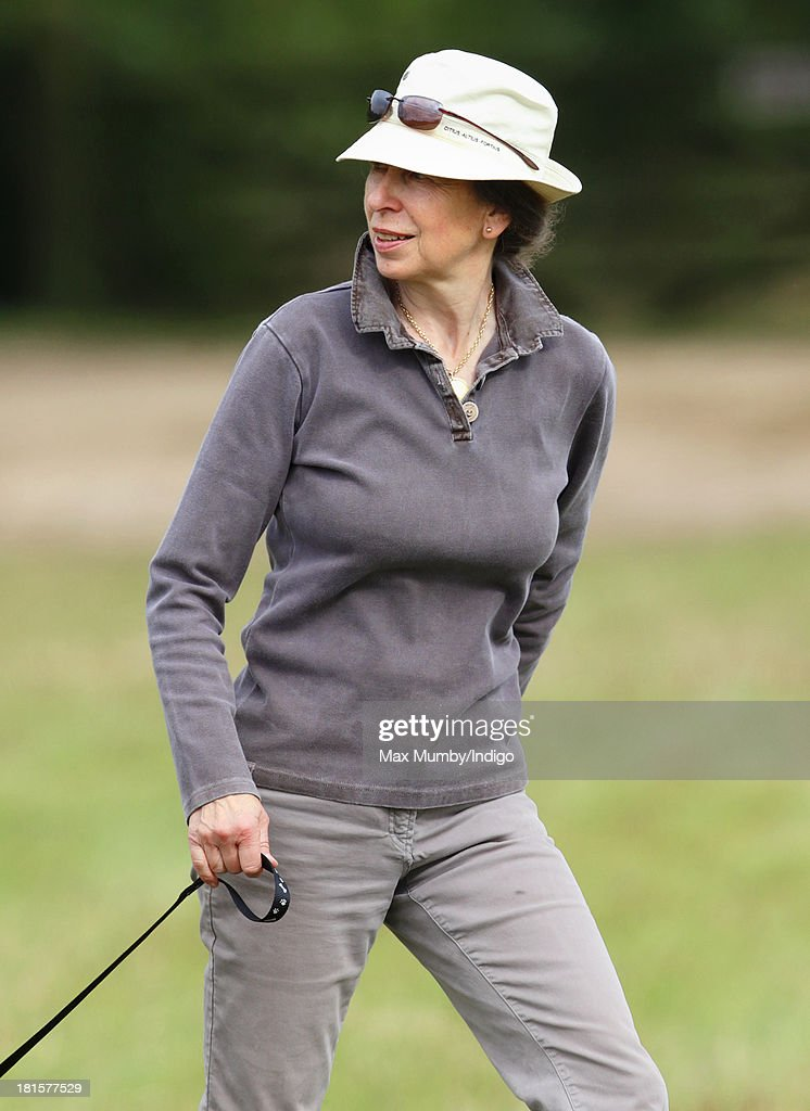 Princess Anne, The Princess Royal attends the Gatcombe Horse Trials at Gatcombe Park, Minchinhampton on September 22, 2013 in Stroud, England.