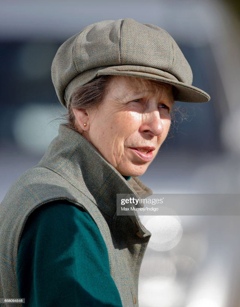 Princess Anne, The Princess Royal attends the Gatcombe Horse Trials at Gatcombe Park on March 26, 2017 in Stroud, England.