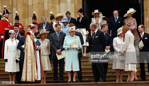 Princess Anne the Princess Royal Camilla Ducess of Cornwall Prince William Queen Elizabeth II Prince Philip Duke of Edinburgh Prince Andrew Duke of...