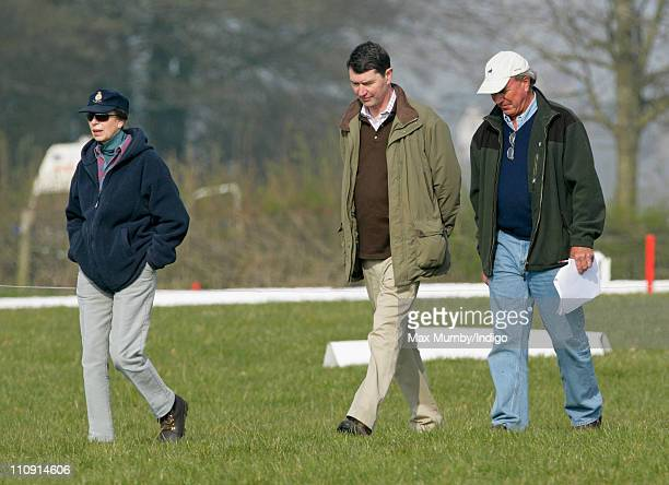 Princess Anne The Princess Royal her husband ViceAdmiral Tim Laurence and her exhusband Mark Phillips attend the Gatcombe Park Horse Trials on March...