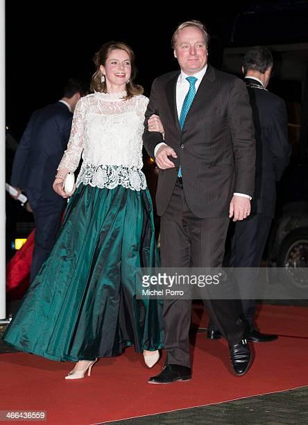 Princess Annemarie and Prince Carlos de Bourbon de Parme attend a celebration of the reign of Princess Beatrix on February 1 2014 in Rotterdam...