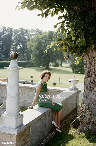 HRH Princess AnneMarie of Denmark in the gardens of home at Fredensborg Palace 24th August 1964 just before her wedding to HM King Constantine of...