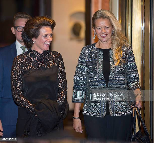 Princess Annette and Princess Mabel of The Netherlands leave after festivities marking the final celebrations of 200 years Kingdom of The Netherlands...