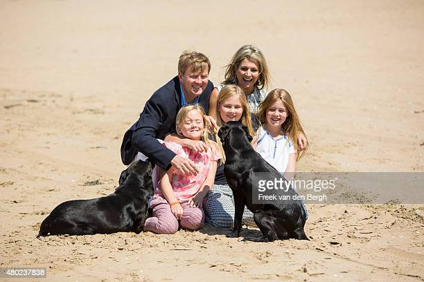 Princess Ariane King WillemAlexander Princess Amalia Queen Maxima and Princess Alexia of The Netherlands and their dogs pose for pictures on July 10...