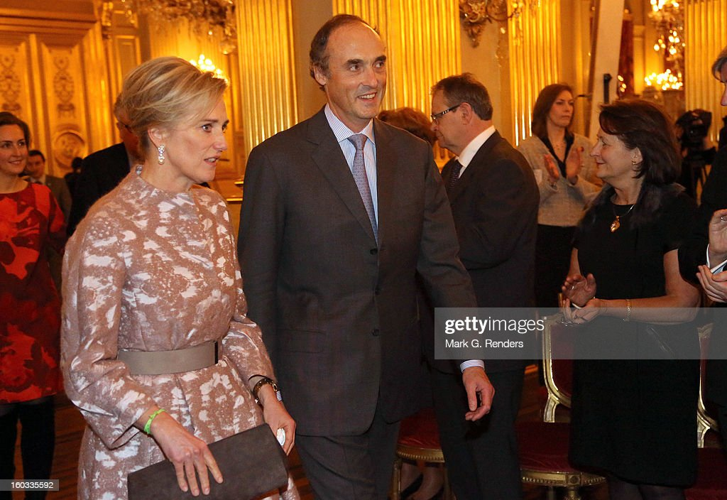 Princess Astrid and Prince Lorentz of Belgium attend a New Year Reception for Country Officials at the Royal Palace on January 29, 2013 in Brussels, Belgium.