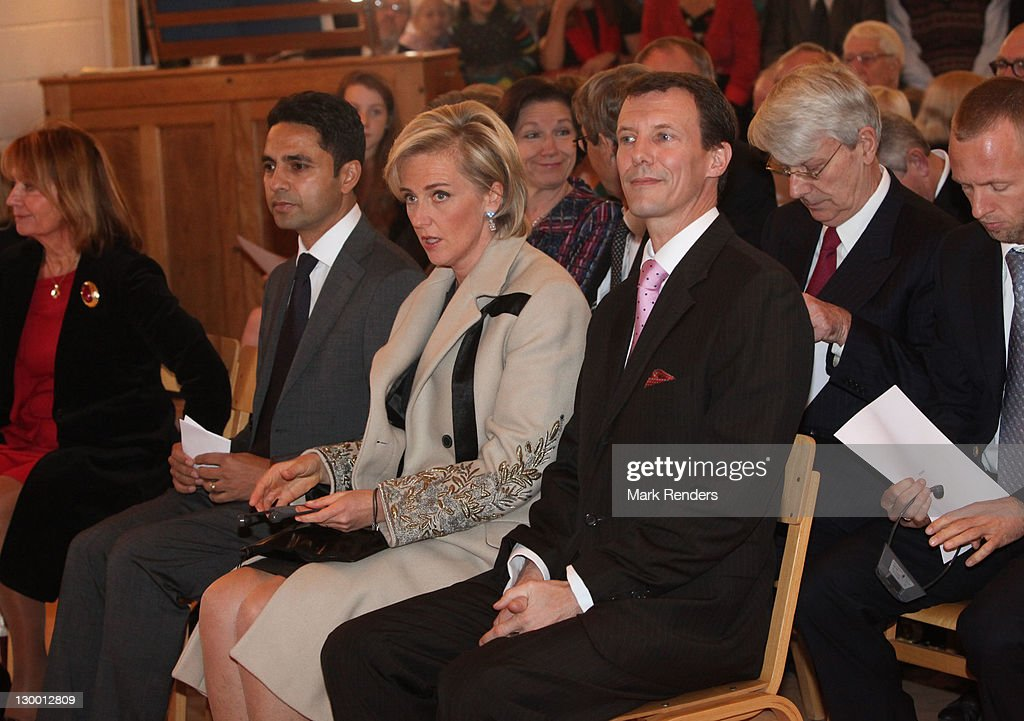 Princess Astrid of Belgium and Prince Joachim of Denmark assist in the inauguration of Our Lady's Church on October 23, 2011 in Brussels, Belgium.