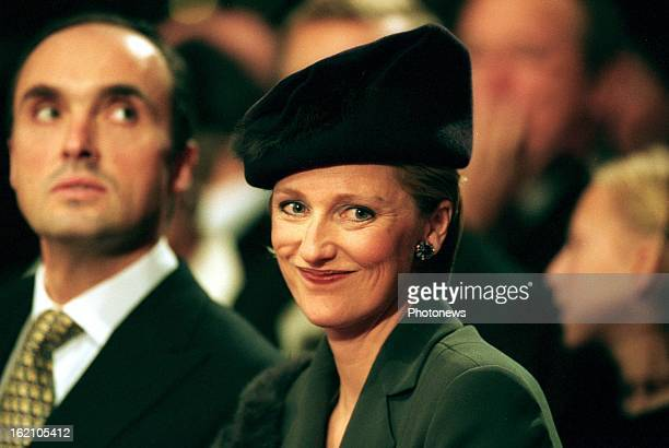 Princess Astrid of Belgium and Prince Lorenz at the wedding of Prince Philippe and Mathilde d'Udekem d'Acoz