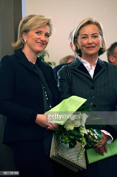 Princess Astrid of Belgium and Queen Paola inaugurate the renovated 'Gallery of the Dinosaurs' at the Museum of Nature Sciences