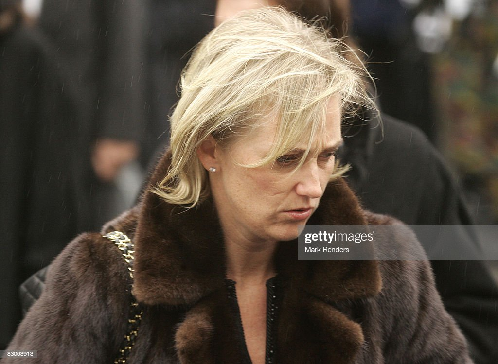 Princess Astrid of Belgium attends the funeral of Patrick d'Udekem d'Acoz, Princess Mathilde's father, at Saint Pierre Church on September 30, 2008 in Bastogne, Belgium.