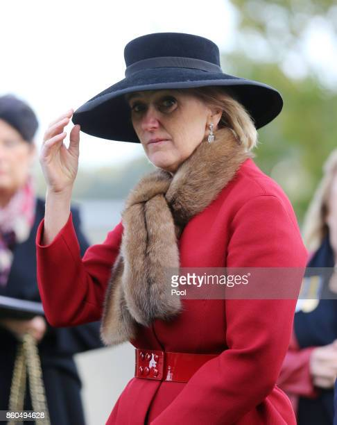 Princess Astrid of Belgium attends the New Zealand national commemoration for the Battle of Passchendaele at Tyne Cot Cemetery on October 12 2017 in...